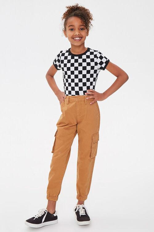 Girls Checkered Ringer Tee (Kids), image 4