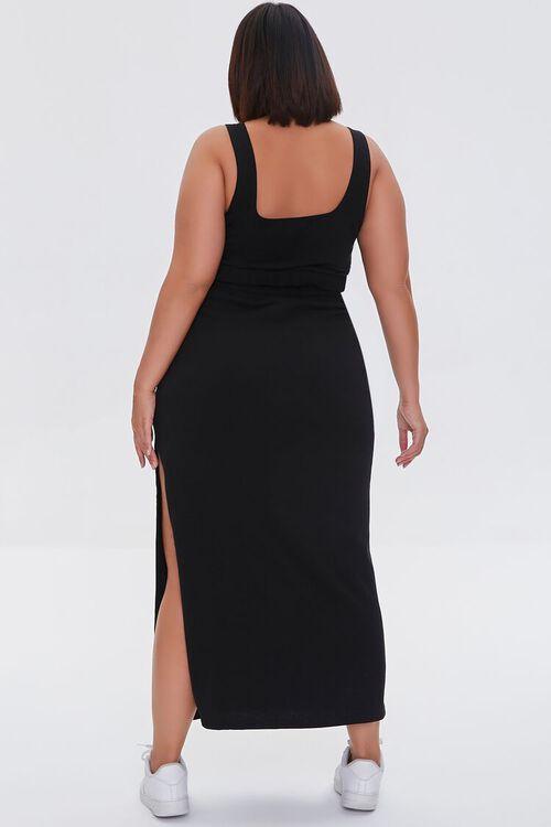 Plus Size Crop Top & Maxi Skirt Set, image 3