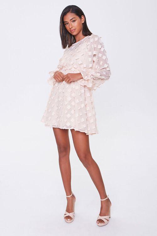 Clover-Embellished Fit & Flare Dress, image 4