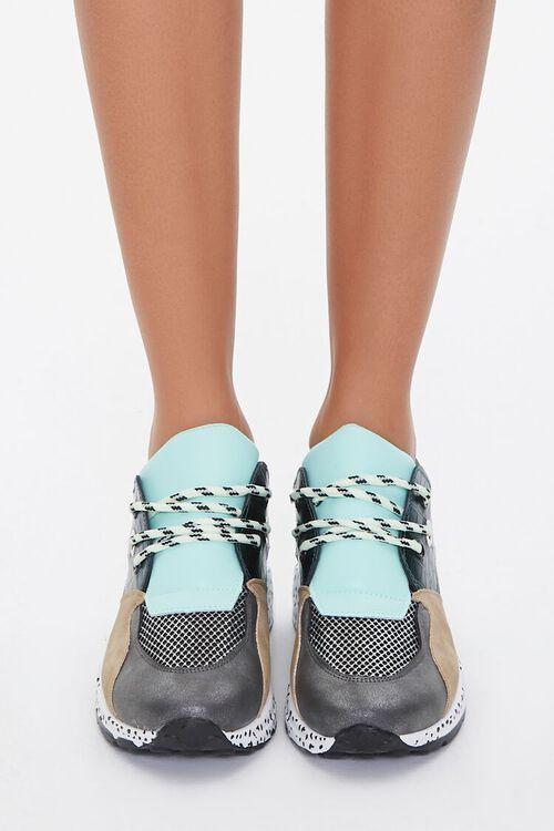 Paneled Low-Top Sneakers, image 4