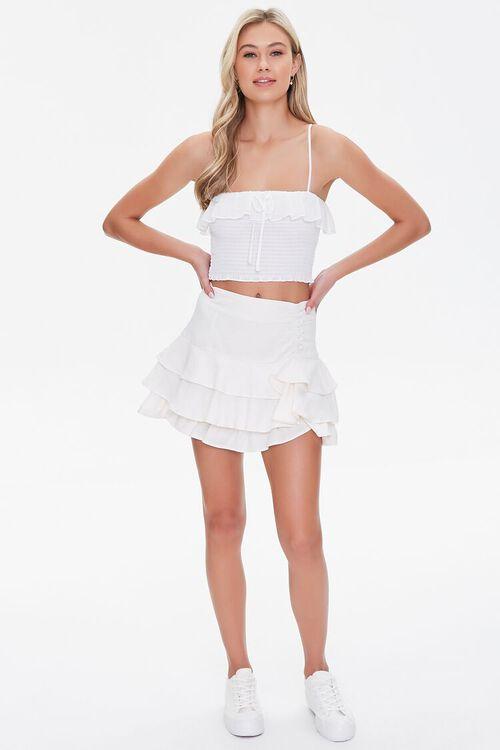 Ruffled Linen-Blend Mini Skirt, image 5