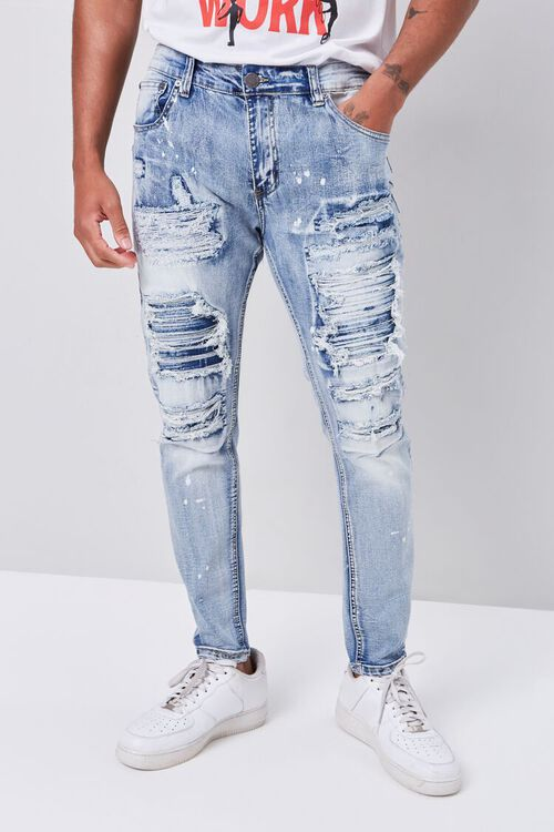 Distressed Paint Splatter Jeans, image 2