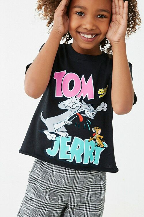 Girls Tom and Jerry Graphic Tee (Kids), image 1