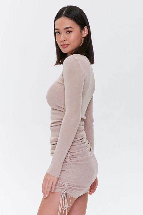 Drawstring Bodycon Midi Dress, image 3