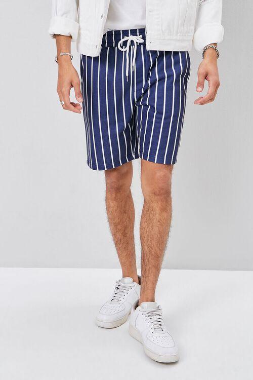 Pinstriped Drawstring Shorts, image 2