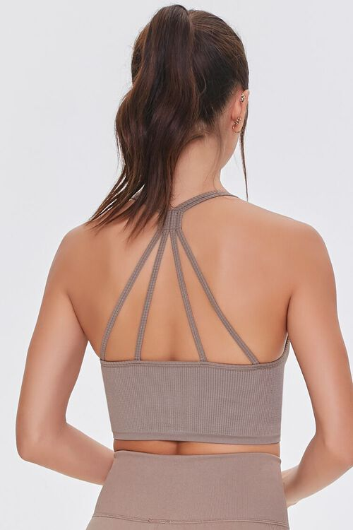 TAUPE Seamless Caged Sports Bra, image 3