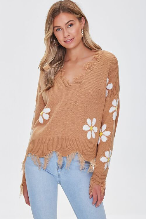 Distressed Daisy Sweater, image 6