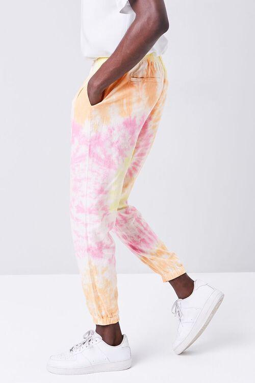 Tie-Dye Linen-Blend Joggers, image 3
