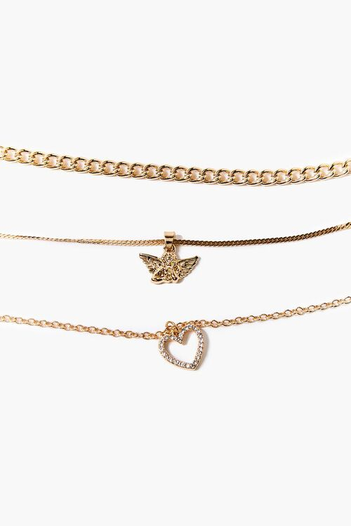 GOLD Butterfly Charm Anklet Set, image 1