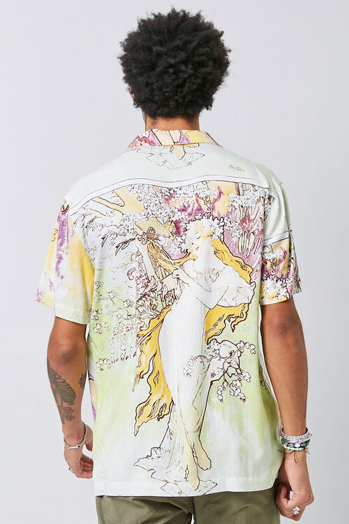 Alphonse Mucha Print Shirt, image 3