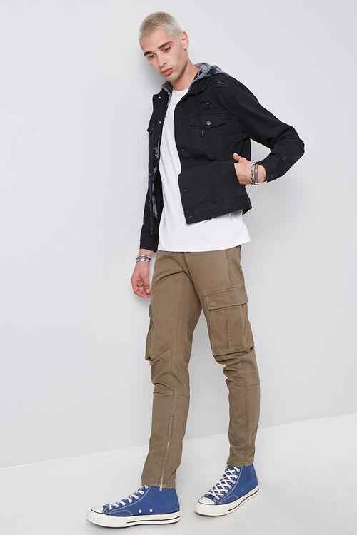 Tie-Dye-Hooded Stonewashed Denim Jacket, image 4