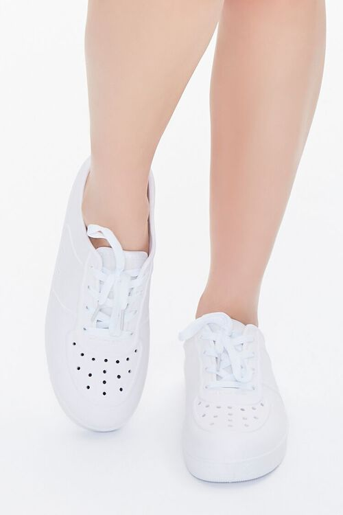 Perforated Low-Top Sneakers, image 4