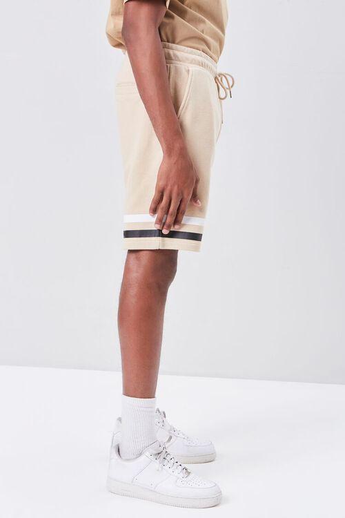 Striped-Trim Drawstring Shorts, image 3