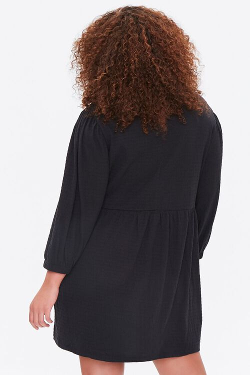Plus Size Textured Mini Dress, image 3
