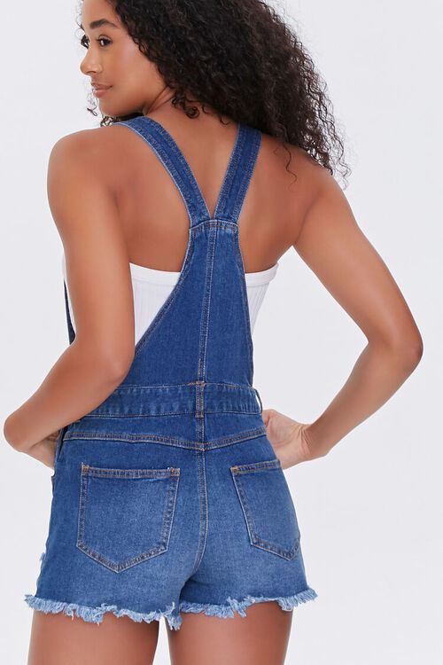 Frayed Denim Overall Shorts, image 3
