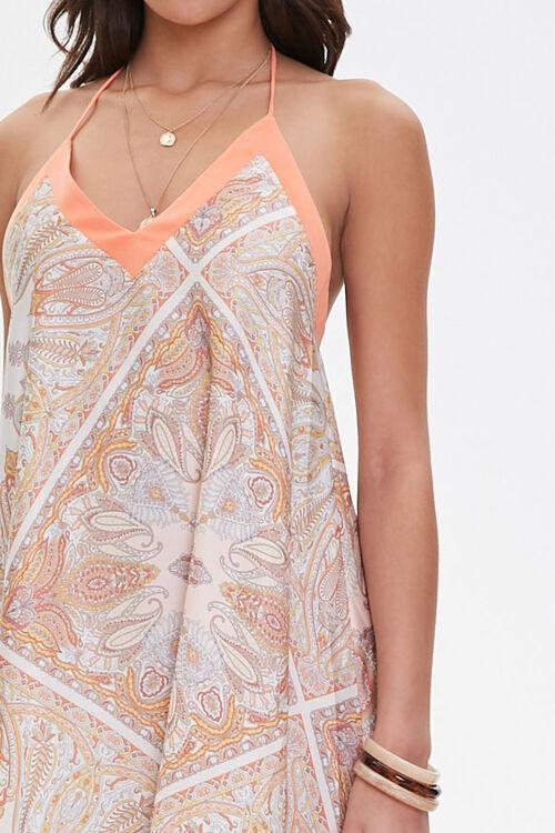 Satin Ornate Print Trapeze Dress, image 5