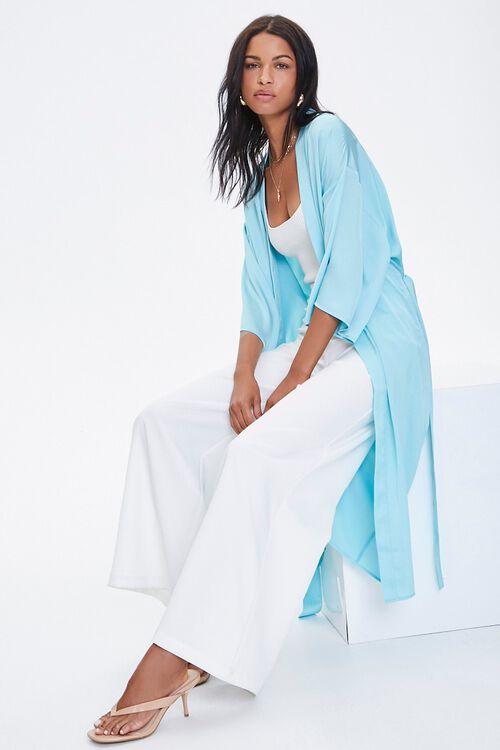 Belted Longline Kimono, image 1
