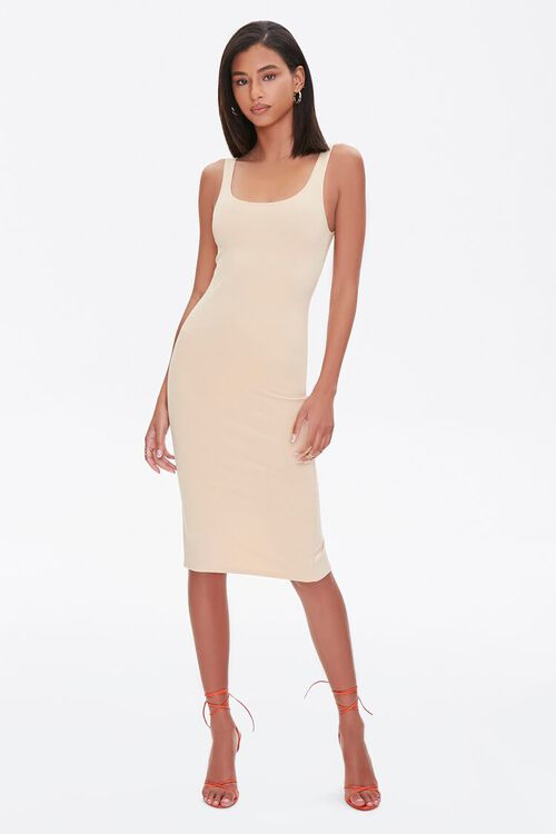 TAUPE Scoop Bodycon Dress, image 4