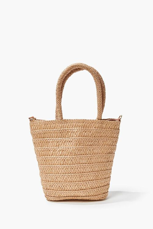 Faux Straw Tote Bag, image 4