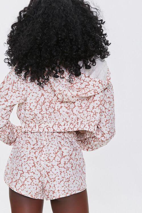 MAUVE/WHITE Active Floral Print Windbreaker, image 3
