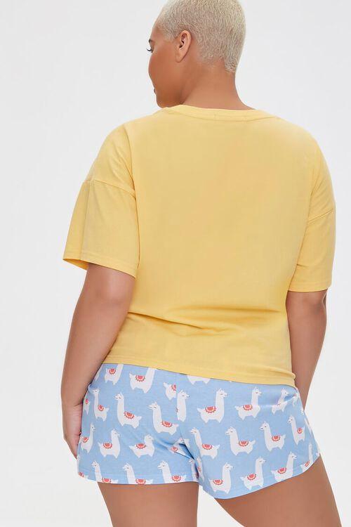 Plus Size Llamaste Graphic Pajama Set, image 3