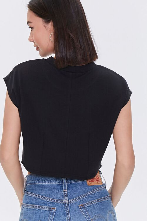 French Terry Cropped Tee, image 3