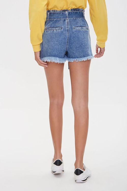 MEDIUM DENIM Paperbag Denim Shorts, image 4