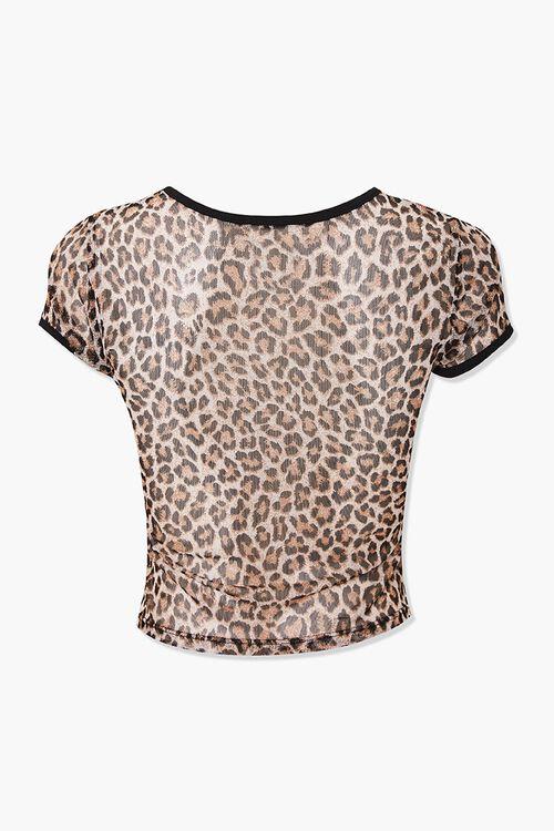 Leopard Cutout Crop Top, image 2