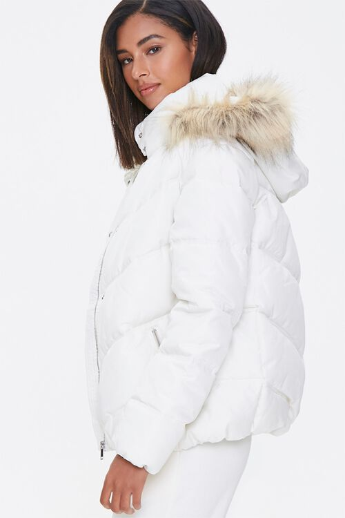 Faux Fur Hooded Puffer Jacket, image 2