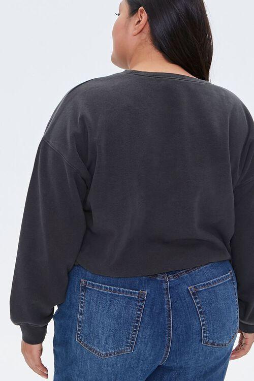Plus Size Boxy Fleece Sweatshirt, image 3