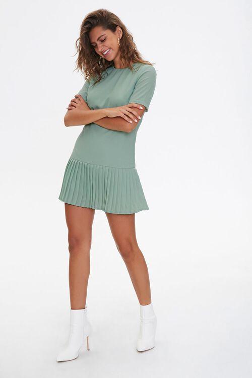 Pleated Shift Dress, image 4