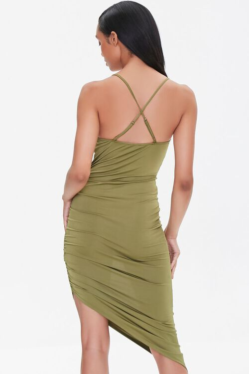 Ruched Bodycon High-Low Dress, image 3