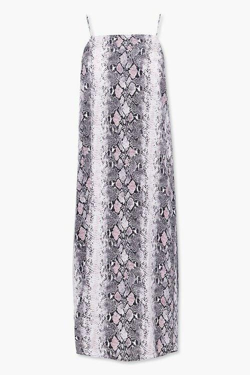 Plus Size Faux Snakeskin Cami Dress, image 1