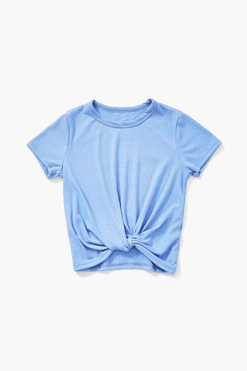 Girls Knotted Ribbed Tee (Kids), image 1
