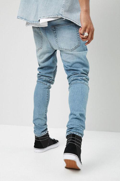 Distressed Slim-Fit Moto Jeans, image 4