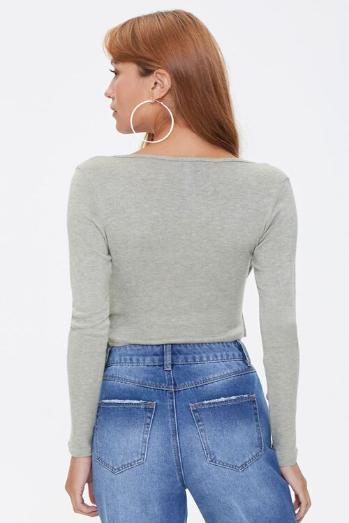 Marled Knit Wrap Top, image 3