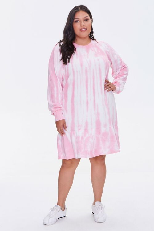 Plus Size Tie-Dye Sweatshirt Dress, image 4