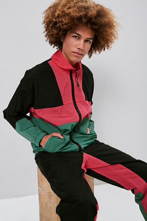 Zip-Up Colorblock Windbreaker, image 1
