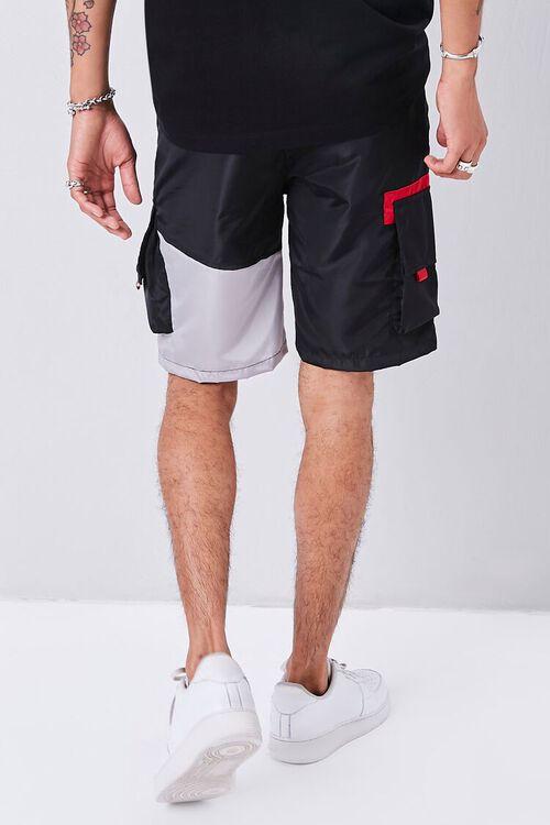 Colorblock Drawstring Cargo Shorts, image 4