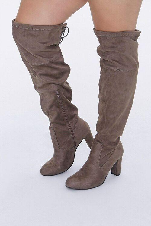 Over-the-Knee Block Heel Boots (Wide), image 1