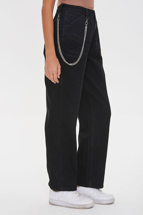 Straight-Leg Wallet Chain Jeans, image 3