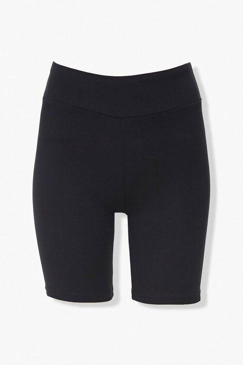 BLACK High-Rise Biker Shorts, image 1