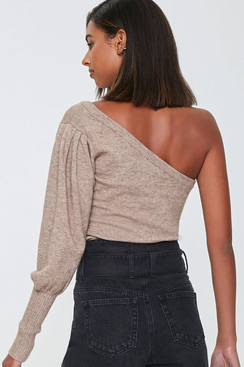 Ribbed One-Shoulder Sweater, image 3