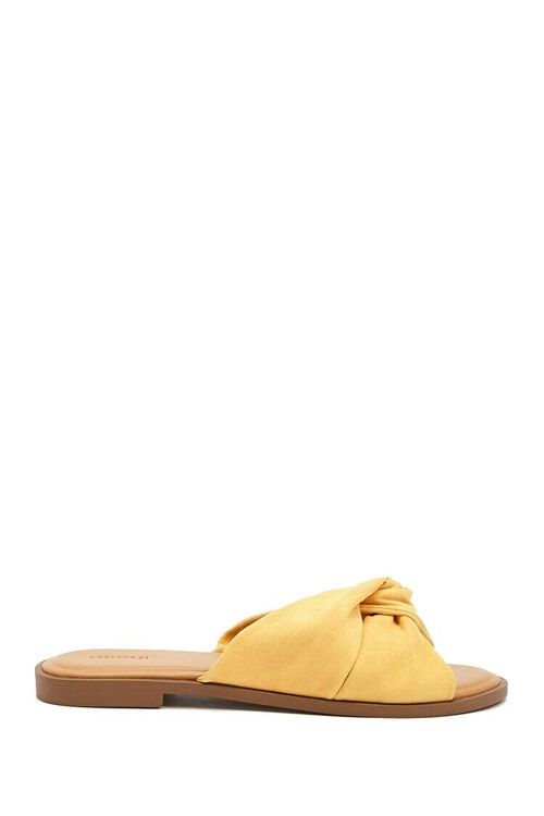 Faux Suede Crisscross Sandals, image 1