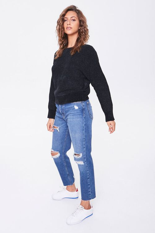 Chenille Boat Neck Sweater, image 4