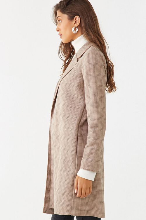 Faux Suede Glen Plaid Jacket, image 2