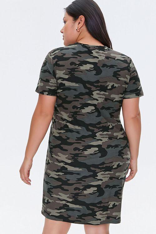 Plus Size Camo T-Shirt Dress, image 3