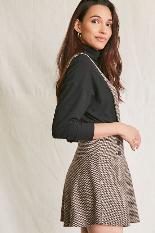 BROWN/MULTI Double-Breasted Mini Pinafore Dress, image 2