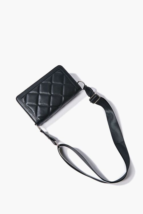 Quilted Grosgrain-Strap Crossbody Bag, image 4
