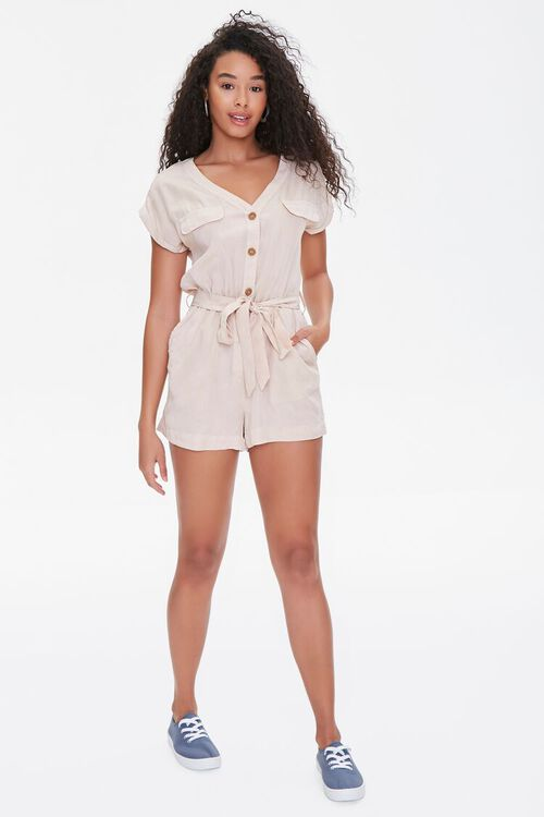 Buttoned Flap Romper, image 4